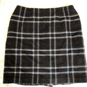 Talbots Plaid Mini Skirt Size 14
